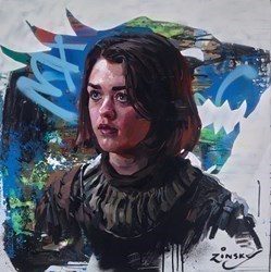 Arya Stark by Zinsky -  sized 30x30 inches. Available from Whitewall Galleries